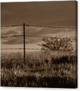 Water Tank On The Pasture  Canvas Print
