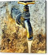 Water Tap Canvas Print