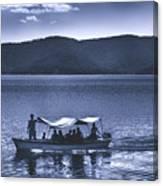 Water Taxi - Lago De Coatepeque - El Salvador Canvas Print