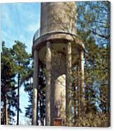 Water Tower In Malmi Cemetery Canvas Print
