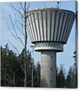 Water Tower Of Lohja  Station Canvas Print