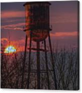 Water Tower Sunset Canvas Print