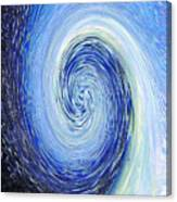 Water Twirl Blue Canvas Print