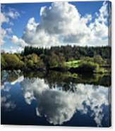 Water Vapour On A Mirror Canvas Print