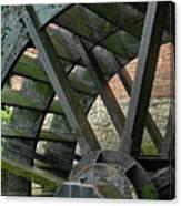 Water Wheel At Graue Mill, Oakbrook, Illinois Canvas Print