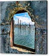 Water Window Canvas Print
