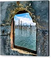 Water Window Canvas Print