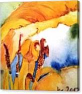 Watercolor .... Tulip Interiors Canvas Print