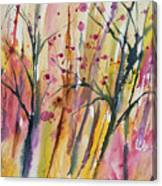 Watercolor - Autumn Forest Impression Canvas Print