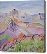 Watercolor - Blanca And Ellingwood Landscape Canvas Print