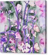 Watercolor - Cherry Blossoms Canvas Print
