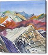 Watercolor - Colorado Elk Range View Canvas Print
