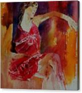 Watercolor Eglantine 1 Canvas Print