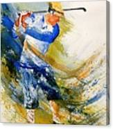 Watercolor  Golf Player Canvas Print