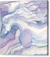Watercolor Horses II Canvas Print