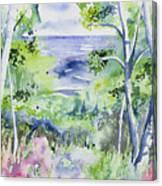 Watercolor - Lake Superior Impression Canvas Print