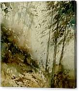 Watercolor Misty Atmosphere  Canvas Print