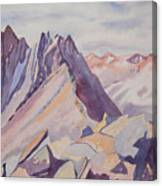 Watercolor - Near The Top Of Mount Sneffels Canvas Print
