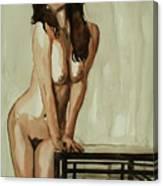 Watercolor Nude 1 Canvas Print