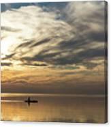 Watercolor Paddle - Kayaking Through A Glorious Silken Morning Canvas Print