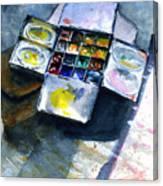 Watercolor Pallet Canvas Print