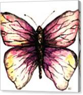 Watercolor Pink Butterfly Canvas Print