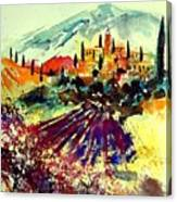 Watercolor  Provence 07 Canvas Print