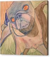 Watercolor Pug Canvas Print