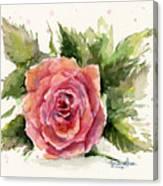 Watercolor Rose Canvas Print