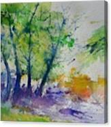 Watercolor Spring 2016 Canvas Print