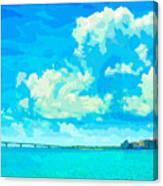 Watercolor Spring On Sarasota Bay Canvas Print
