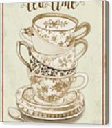 Watercolor Teacups-e Canvas Print