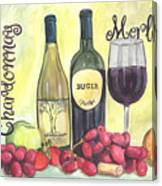 Watercolor Wine Canvas Print