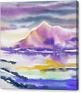 Watercolor - Winter Arctic Impression Canvas Print