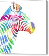 Watercolor Zebra Canvas Print