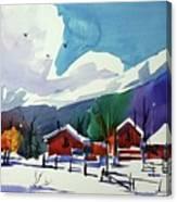 Watercolor_3483 Canvas Print
