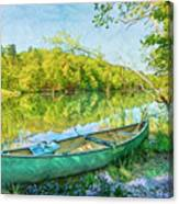 Watercolors At The Lake Canvas Print