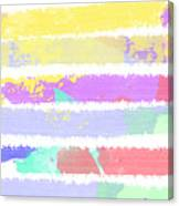 Watercolour Abstract Strips Canvas Print