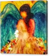 Watercolour Angel Canvas Print