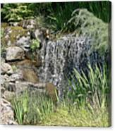 Waterfall And Pond Canvas Print