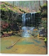 Waterfall At Don Robinson State Park 1 Canvas Print