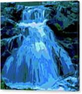 Waterfall At Finch 2 Canvas Print