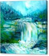 Waterfall At Pont Espagna Canvas Print
