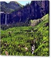 Waterfall At Telluride, Colorado Canvas Print