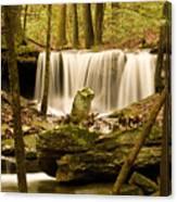 Waterfall At The Ruins Canvas Print
