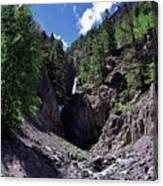 Waterfall At Yankee Boy Basin Canvas Print