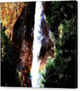 Waterfall At Yosemite Canvas Print