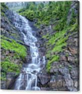 Waterfall Below The Garden Wall Canvas Print