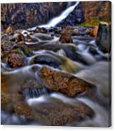 Waterfall Canyon Vertical Canvas Print