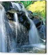 Waterfall Close-up Canvas Print